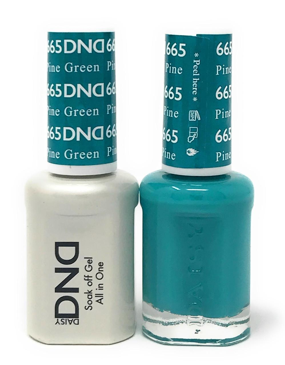 Dnd Soak Off Gel Polish Duo Diva Collection Pine Green 665