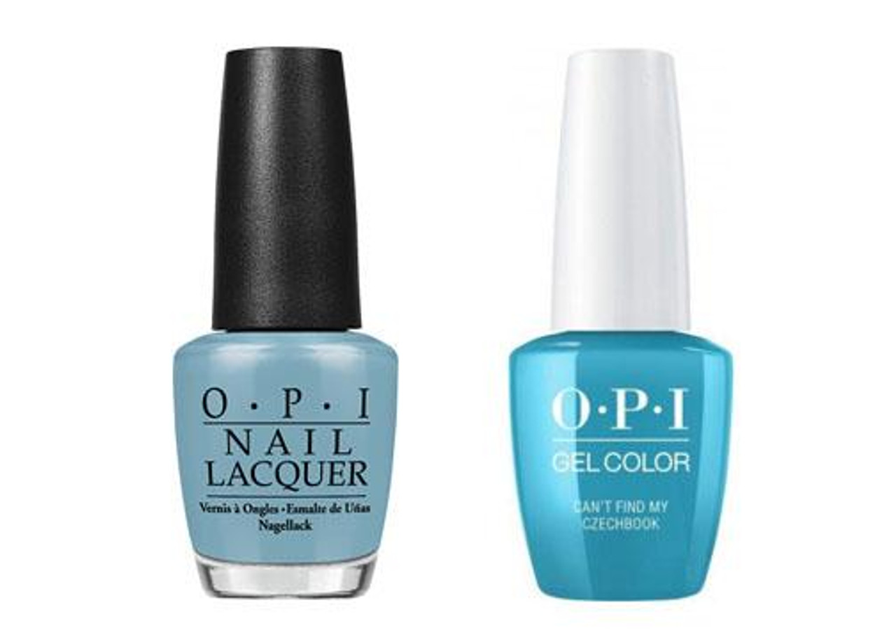 Salon Taupe Et Turquoise opi gelcolor & lacquer combo   can't find my czechbook (e75)