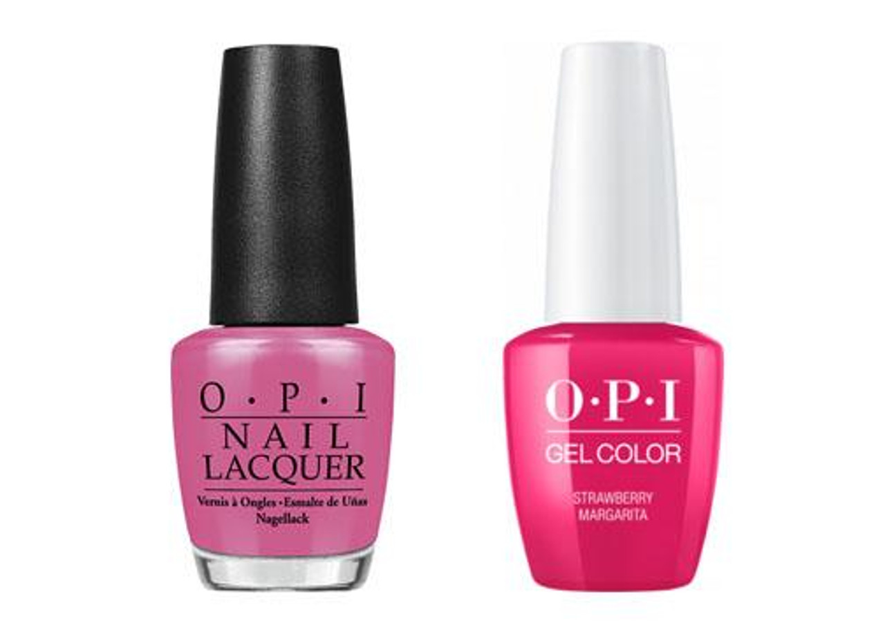 Opi Gelcolor Lacquer Combo Strawberry Margarita M23 Max Beauty Source