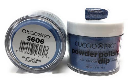 5606 Blue W/Pink Glitter