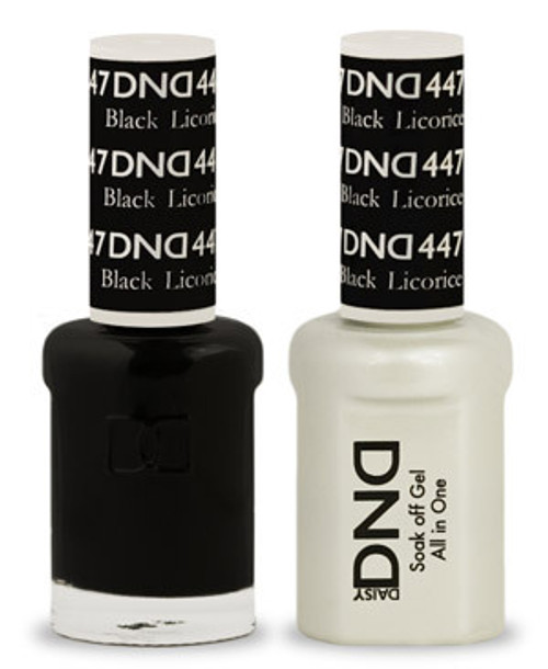DND SOAK OFF GEL POLISH DUO | Black Licorice 447 |