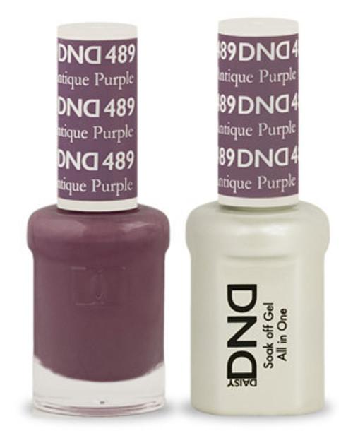 DND SOAK OFF GEL POLISH DUO | Antique Purple 489 |