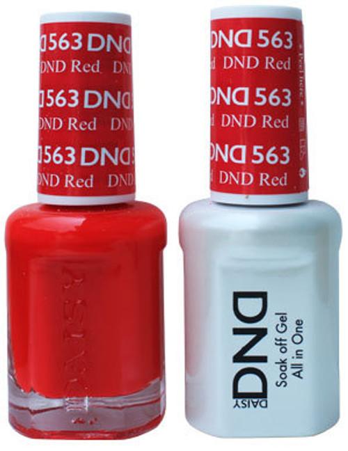 DND SOAK OFF GEL POLISH DUO | DND Red 563 |