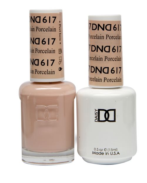 DND SOAK OFF GEL POLISH DUO DIVA COLLECTION | Porcelain, 617 |