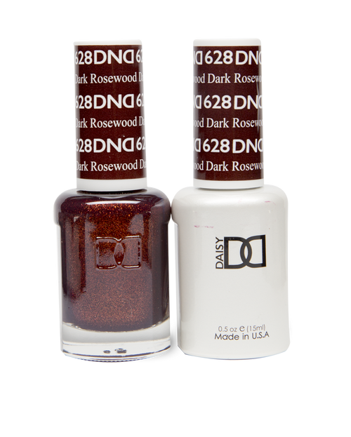 DND SOAK OFF GEL POLISH DUO DIVA COLLECTION | Dark Rosewood, 628 |