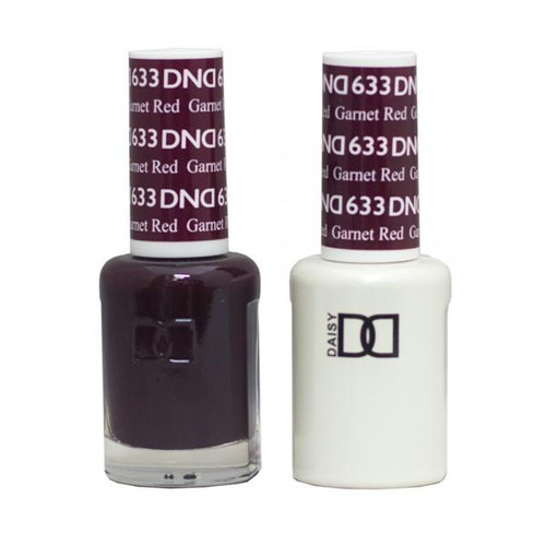 DND SOAK OFF GEL POLISH DUO DIVA COLLECTION | Garnet Red, 633 |