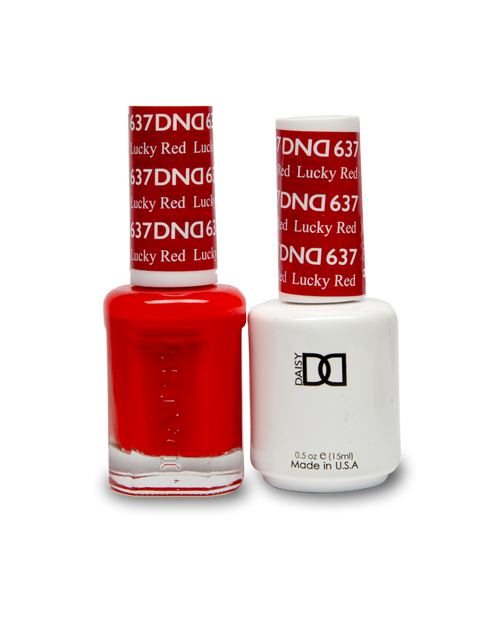 DND SOAK OFF GEL POLISH DUO DIVA COLLECTION | Lucky Red, 637 |