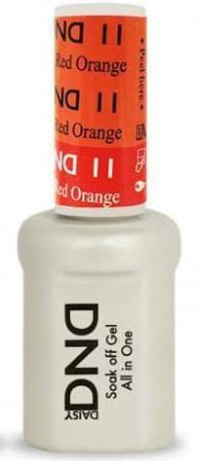 DND SOAK OFF GEL MOOD CHANGE | Orange To Red 11 |