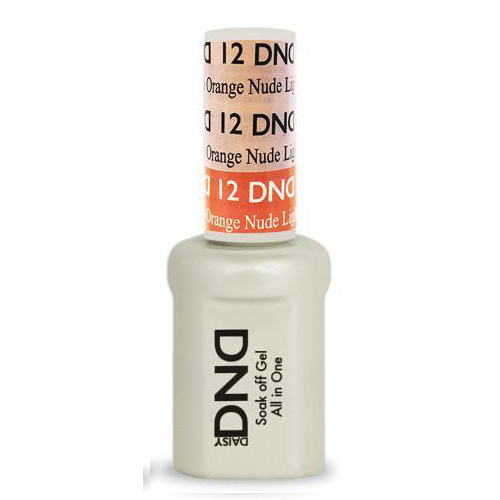DND SOAK OFF GEL MOOD CHANGE | Light Pink To Orange Nude 12 |
