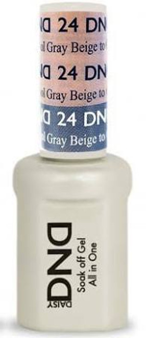 DND SOAK OFF GEL MOOD CHANGE | Beige To Cool Gray 24 |