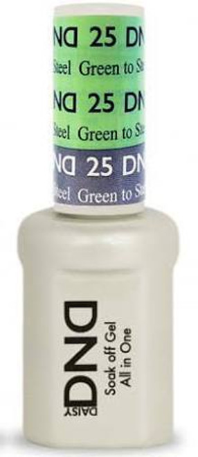 DND SOAK OFF GEL MOOD CHANGE | Green To Steel 25 |