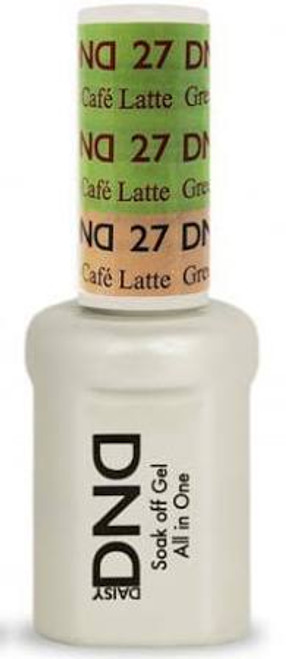 DND SOAK OFF GEL MOOD CHANGE | Green To Cafe Latte 27 |