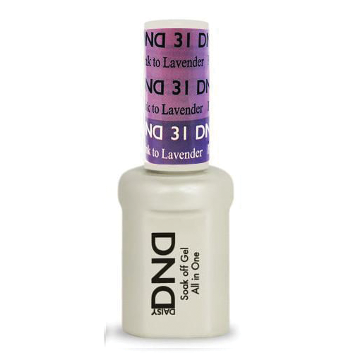 DND SOAK OFF GEL MOOD CHANGE | Purple Pink To Lavender 31 |