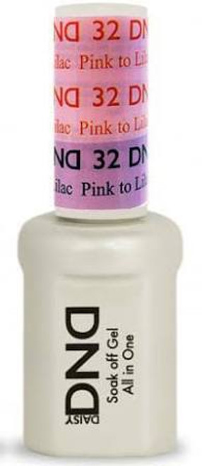DND SOAK OFF GEL MOOD CHANGE | Pink To Lilac Pink 32 |