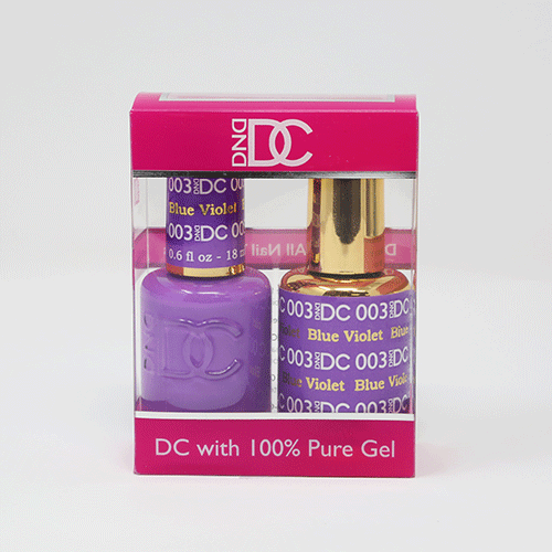 DND DC DUO SOAK OFF GEL AND LACQUER | 003 Blue Violet |