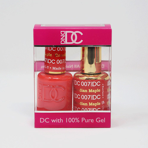 DND DC DUO SOAK OFF GEL AND LACQUER | 007 Canadian Maple |