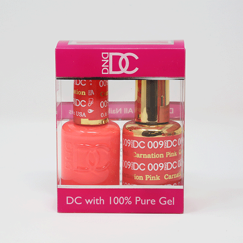 DND DC DUO SOAK OFF GEL AND LACQUER | 009 Carnation Pink |