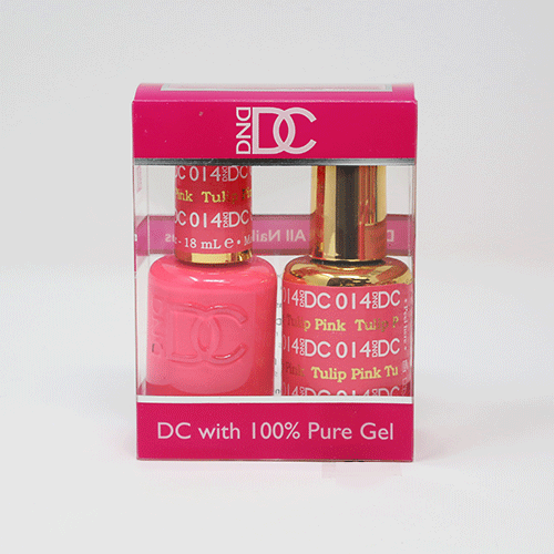 DND DC DUO SOAK OFF GEL AND LACQUER | 014 Tulip Pink |