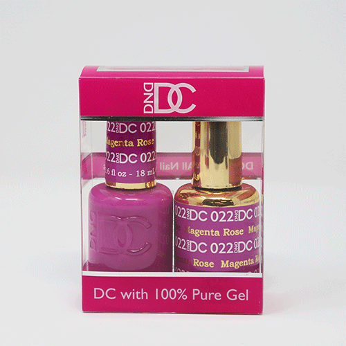 DND DC DUO SOAK OFF GEL AND LACQUER   022 Magenta Rose  
