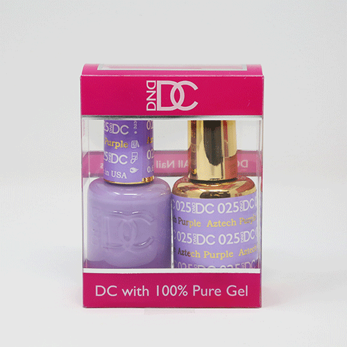 DND DC DUO SOAK OFF GEL AND LACQUER | 025 Aztech Purple |