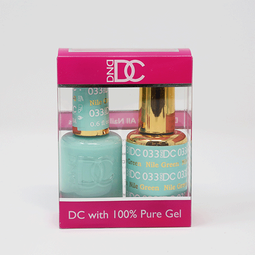DND DC DUO SOAK OFF GEL AND LACQUER | 033 Nile Green  |
