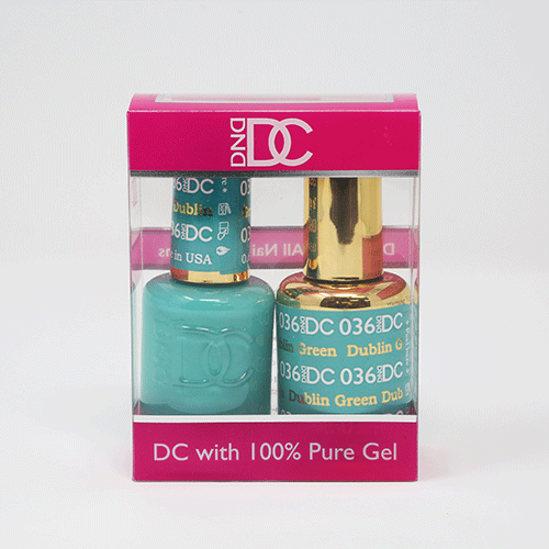 DND DC DUO SOAK OFF GEL AND LACQUER | 036 Dublin Green |
