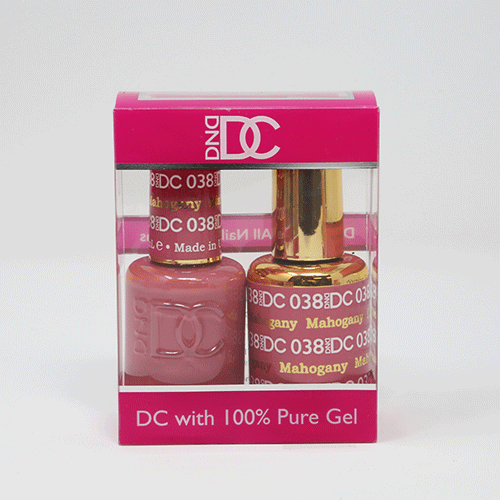 DND DC DUO SOAK OFF GEL AND LACQUER | 038 Mahogany |