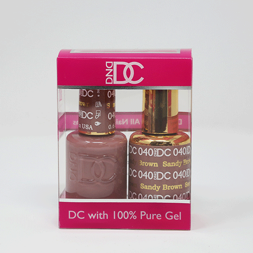 DND DC DUO SOAK OFF GEL AND LACQUER | 040 Sandy Brown |