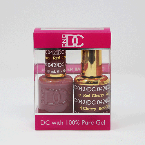 DND DC DUO SOAK OFF GEL AND LACQUER | 042 Red Cherry |