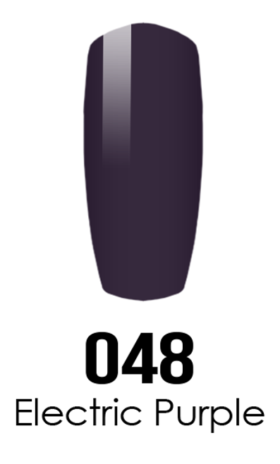 DND DC DUO SOAK OFF GEL AND LACQUER | 048 Electric Purple |