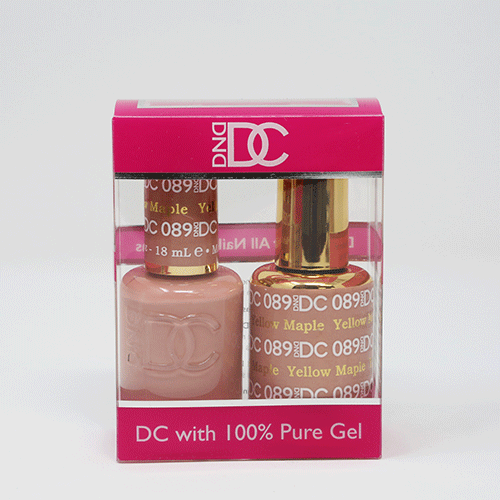 DND DC DUO SOAK OFF GEL AND LACQUER   089 Yellow Maple  