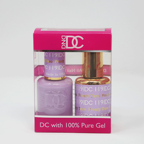 DND DC DUO SOAK OFF GEL AND LACQUER | 119 Frosty Taro |