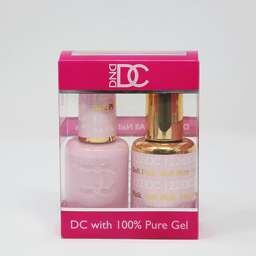 DND DC DUO SOAK OFF GEL AND LACQUER | 122 Soft Pink |