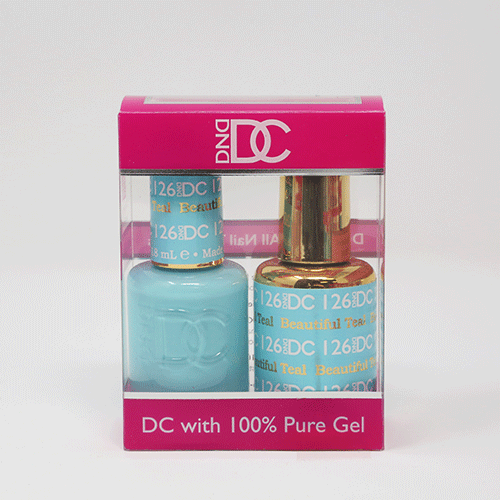 DND DC DUO SOAK OFF GEL AND LACQUER | 126 Beautiful Teal |