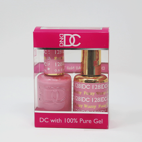 DND DC DUO SOAK OFF GEL AND LACQUER | 128 Fuzzy Wuzzy |