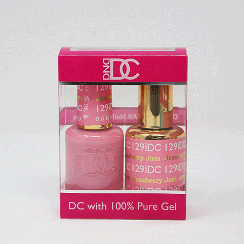 DND DC DUO SOAK OFF GEL AND LACQUER | 129 Jazzberry Jam |