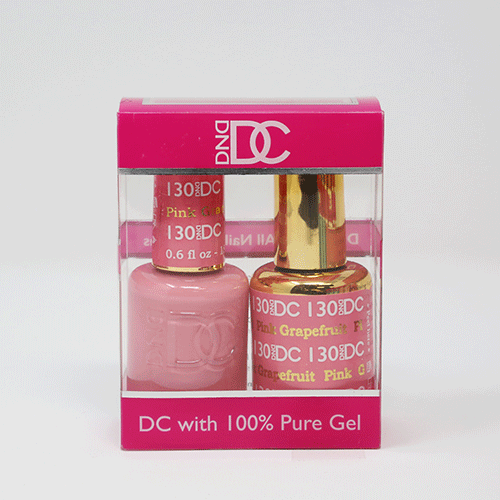 DND DC DUO SOAK OFF GEL AND LACQUER | 130 Pink Grapefruit |