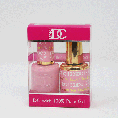 DND DC DUO SOAK OFF GEL AND LACQUER | 132 Lemon Tea |