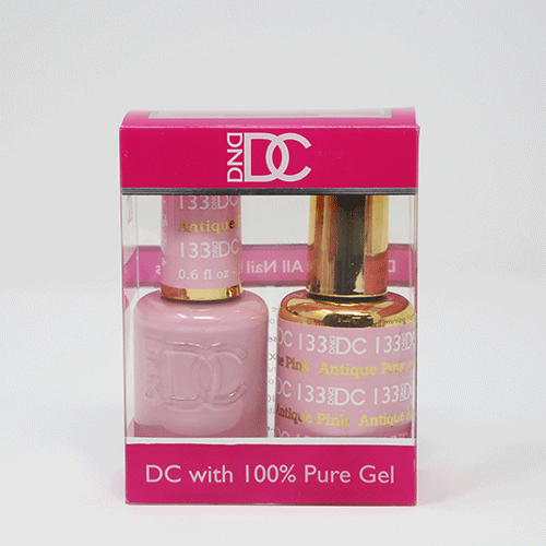 DND DC DUO SOAK OFF GEL AND LACQUER | 133 Antique Pink |