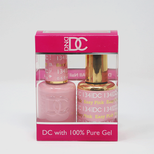 DND DC DUO SOAK OFF GEL AND LACQUER | 134 Easy Pink |