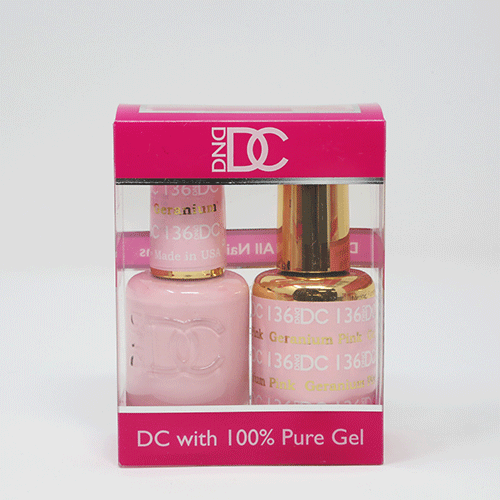 DND DC DUO SOAK OFF GEL AND LACQUER | 136 Geranium Pink |
