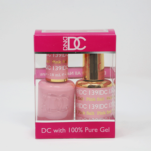 DND DC DUO SOAK OFF GEL AND LACQUER | 139 Pink Salt |