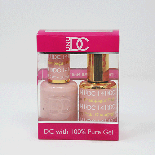 DND DC DUO SOAK OFF GEL AND LACQUER | 141 Pink Champagne |