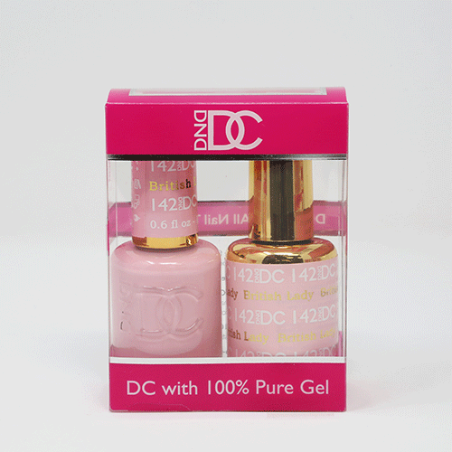 DND DC DUO SOAK OFF GEL AND LACQUER | 142 British Lady |