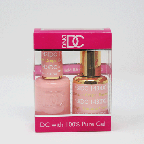 DND DC DUO SOAK OFF GEL AND LACQUER | 143 Banana Crepe |