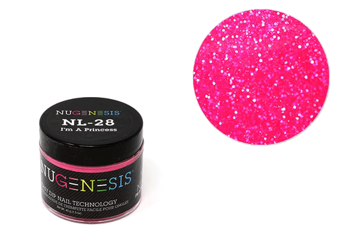 Nugenesis Easy Nail Dip Sparkle Collection | NL 28 I'm a Princess |