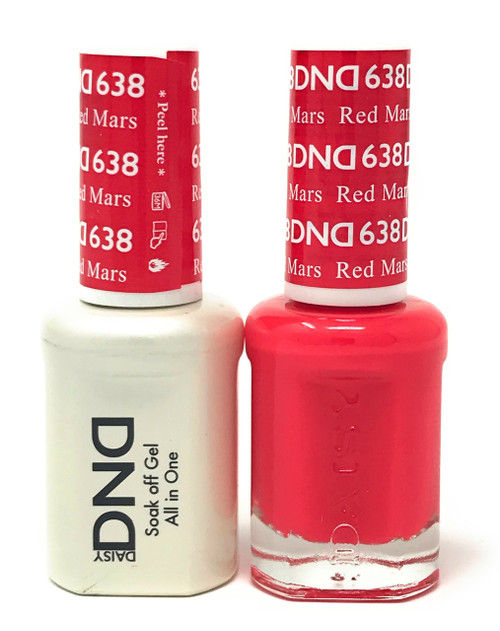 DND SOAK OFF GEL POLISH DUO DIVA COLLECTION | Red Mars, 638 |