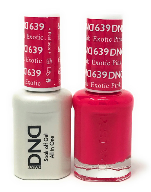DND SOAK OFF GEL POLISH DUO DIVA COLLECTION | EXOTIC PINK, 639 |