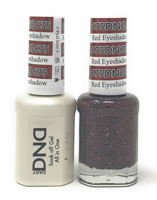 DND SOAK OFF GEL POLISH DUO DIVA COLLECTION | RED EYESHADOW, 675 |