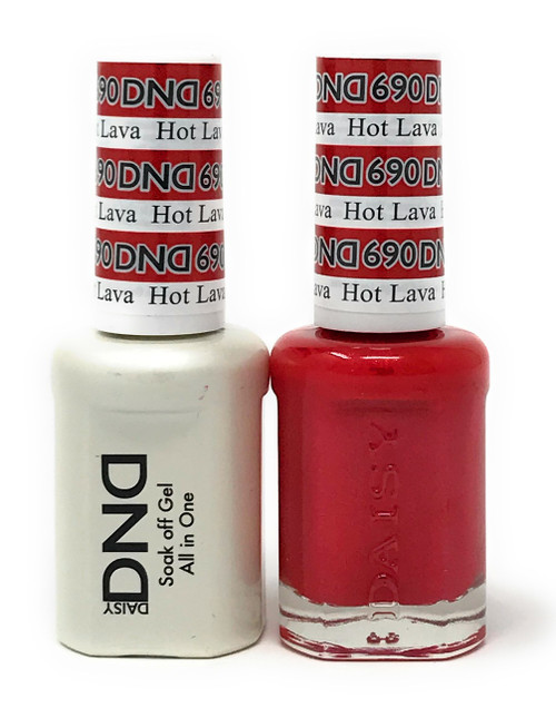 DND SOAK OFF GEL POLISH DUO DIVA COLLECTION | HOT LAVA, 690 |